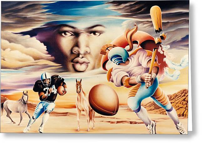 Modern Gladiator Greeting Card by Hans Doller