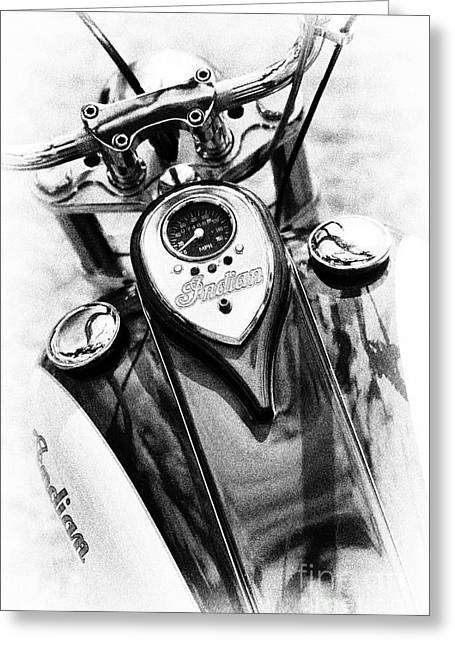Speedometer Greeting Cards - Modern Indian Motorcycle  Greeting Card by Tim Gainey
