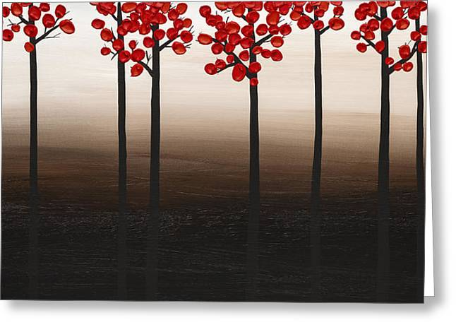 Floral Art Greeting Cards - Modern Landscape Greeting Card by Carmen Guedez
