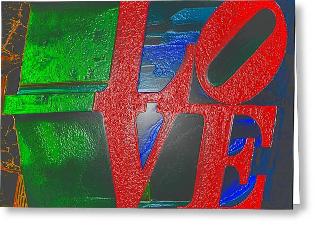 Phila Greeting Cards - Modern Love Greeting Card by Bill Cannon