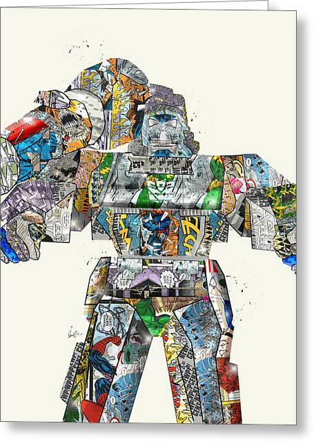 Quirky Greeting Cards - Modern Megatron Greeting Card by Bri Buckley