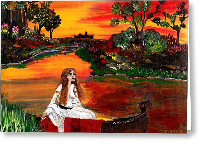Guinevere Paintings Greeting Cards - Modern Myth  Greeting Card by Mark Moore
