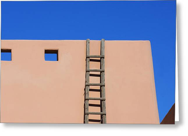 Unadorned Greeting Cards - Modern Pueblo Greeting Card by Art Block Collections