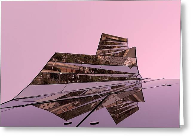 Spiegelung Greeting Cards - Modern Reflections ... Greeting Card by Juergen Weiss