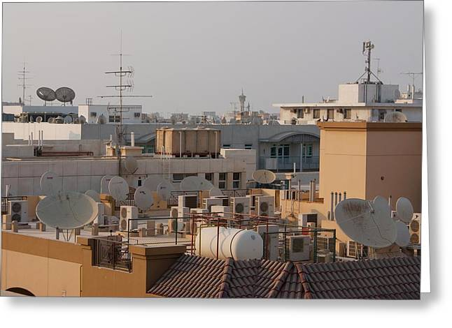 Modern Roofscape Greeting Card by Mark Williamson