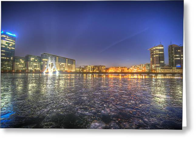 White River Scene Digital Art Greeting Cards - Modern skyline  Greeting Card by Nathan Wright