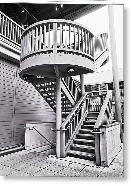 Architectural Design Greeting Cards - Modern stairs Greeting Card by Tom Gowanlock