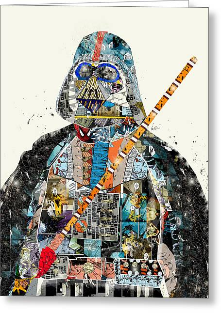 Childrens Poster Greeting Cards - Modern Vader Greeting Card by Bri Buckley