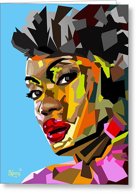 Kenya Greeting Cards - Modern Woman Greeting Card by Anthony Mwangi
