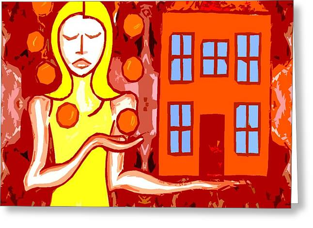 MODERN WOMAN Greeting Card by Patrick J Murphy