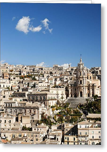 Italian Med Greeting Cards - Modica In Sicily Italy Greeting Card by Jacek Malipan