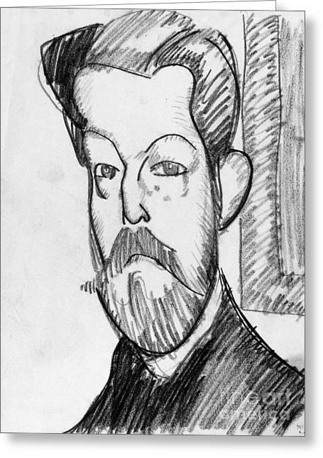 Modigliani Drawings Greeting Cards - Modigliani - Paul Alexander Greeting Card by Granger