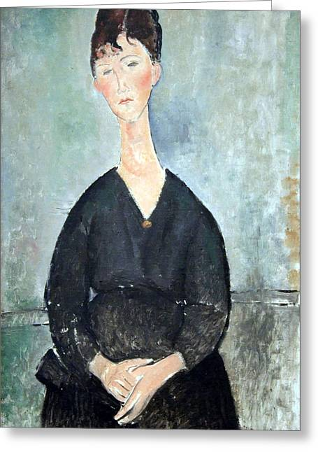 Modigliani Photographs Greeting Cards - Modiglianis Cafe Singer Greeting Card by Cora Wandel