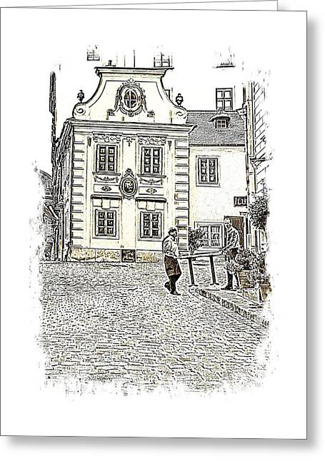 Hidden Corners Greeting Cards - Moelker Bastei a Picturesque Corner in Vienna Greeting Card by Menega Sabidussi