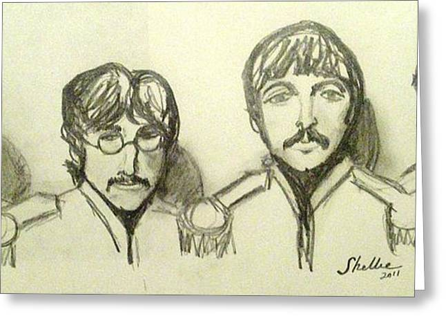 Ringo Starr Drawings Greeting Cards - Moes Favorite Greeting Card by Michele Moore
