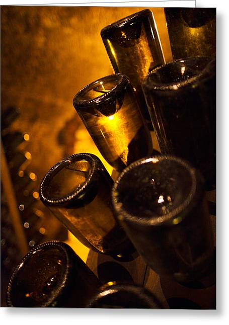 Wine Bottle Images Greeting Cards - Moet And Chandon Champagne Winery Greeting Card by Panoramic Images