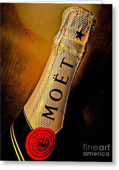 Best Sellers -  - Abstract Digital Photographs Greeting Cards - Moet Greeting Card by Kathleen A McDermott