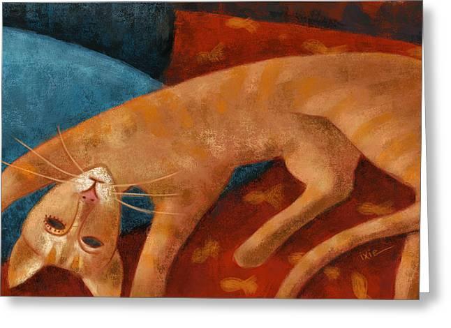 Modigliani Digital Art Greeting Cards - Modigliani cat Greeting Card by Ixie