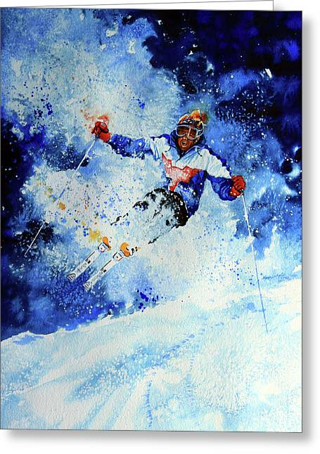 Sochi 2014 Winter Olympics Greeting Cards - Mogul Mania Greeting Card by Hanne Lore Koehler