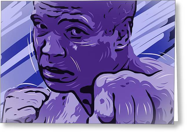 Boxe Greeting Cards - Mohamed Ali  Greeting Card by Bollmann Benjamin