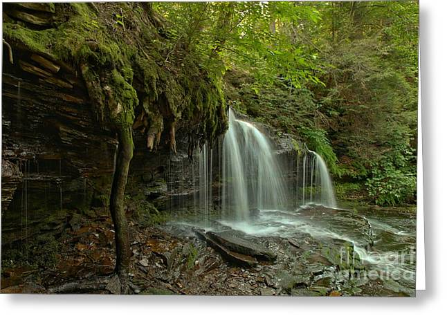 Mohawk Park Greeting Cards - Mohawk Falls Landscape Greeting Card by Adam Jewell