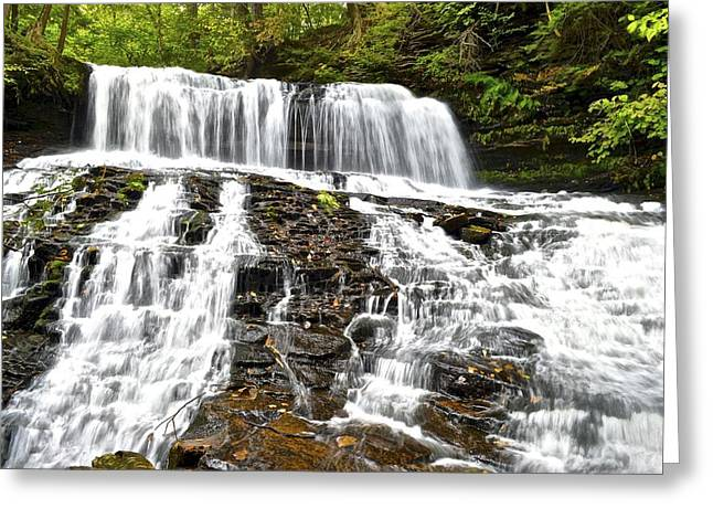 Mohawk Park Greeting Cards - Mohawk Falls Greeting Card by Frozen in Time Fine Art Photography