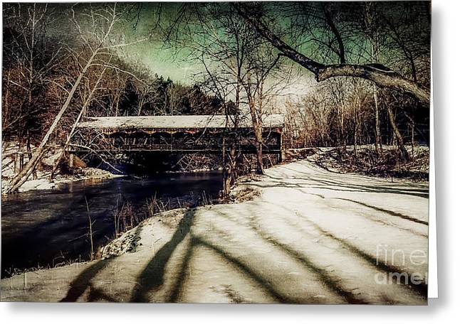 Covered Bridge Greeting Cards - Mohican Covered Bridge 35-03-0a Ashland County Ohio  Greeting Card by Robert Gardner