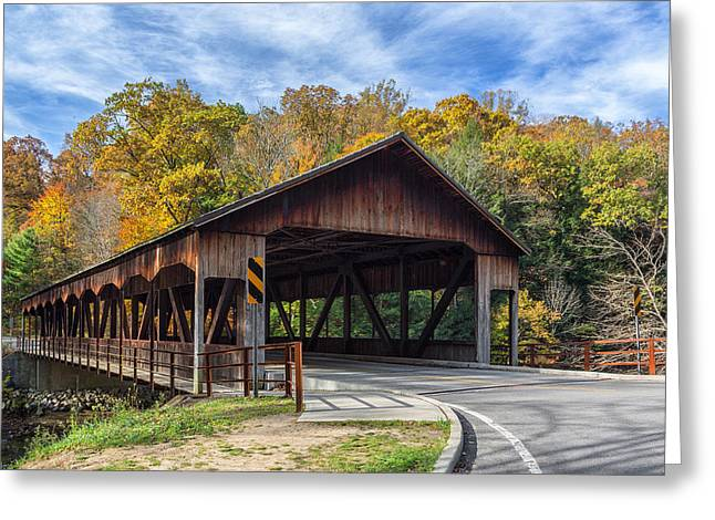 Mohicans Greeting Cards - Mohican Covered Bridge Greeting Card by Dale Kincaid