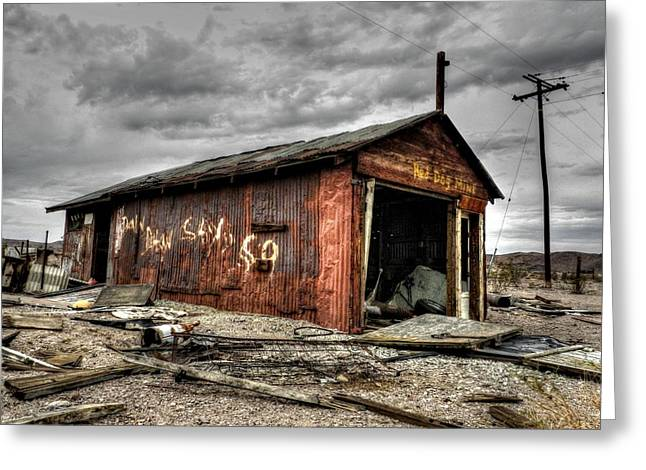 Dystopian Greeting Cards - Mojave HDR 013 Greeting Card by Lance Vaughn