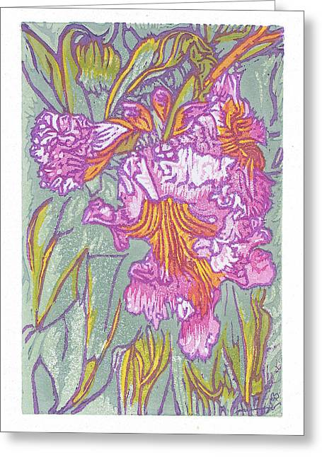 Blossom Reliefs Greeting Cards - Mojave Willow Greeting Card by Maria Arango