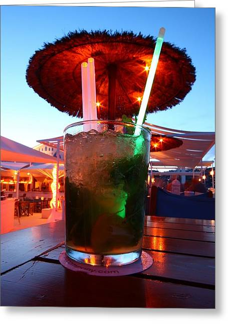 Costa Blanca Greeting Cards - Mojito Lights Greeting Card by FireFlux Studios