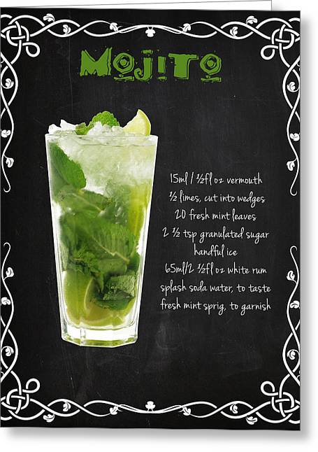 Fruit And Wine Greeting Cards - Mojito Greeting Card by Mark Rogan