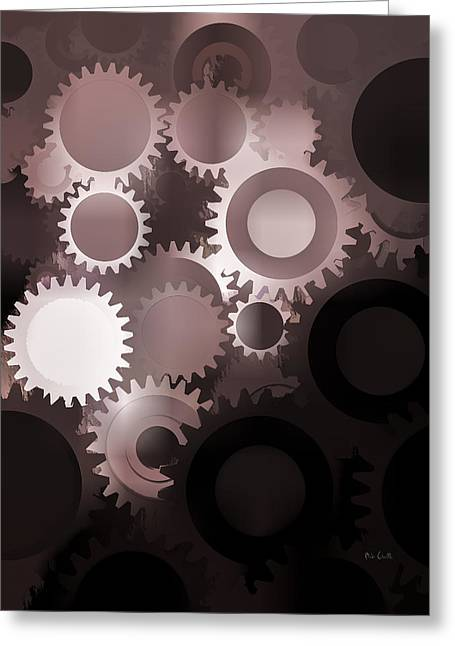Cog Greeting Cards - Mojo Synchronicity Greeting Card by Bob Orsillo