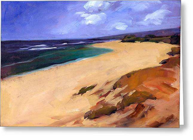 Beachscape Greeting Cards - Mokuleia Greeting Card by Douglas Simonson