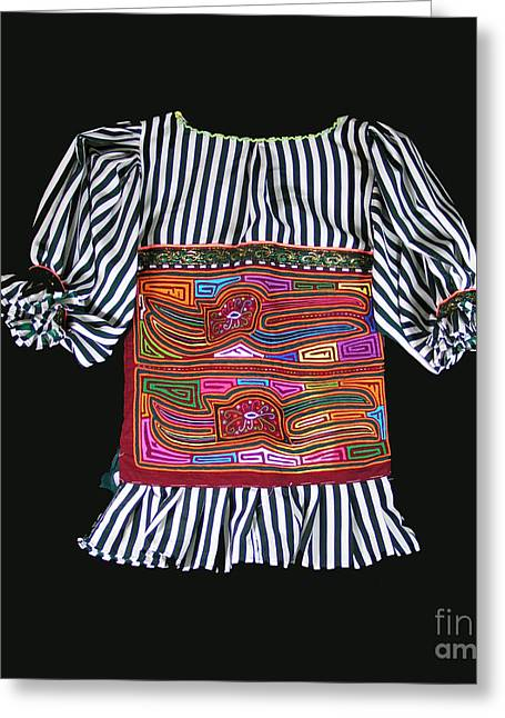 Mola Blouse For A Child Greeting Card by Sherry Thorup