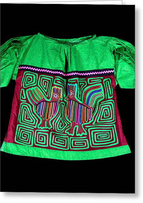 Reverse Art Greeting Cards - MOLA Blouse Greeting Card by Sherry Thorup