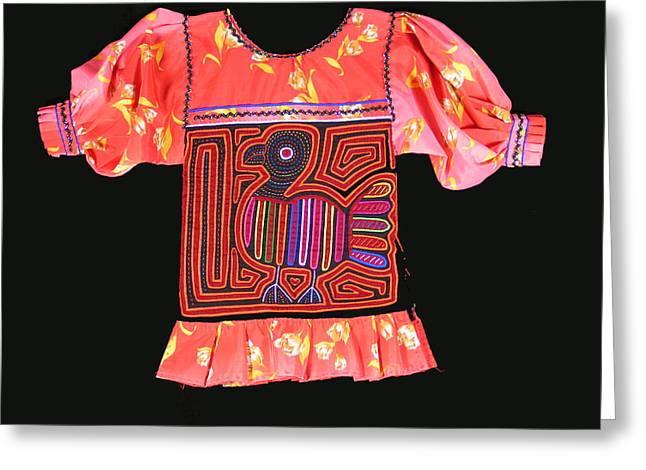 Reverse Art Greeting Cards - MOLA Childs Blouse Greeting Card by Sherry Thorup
