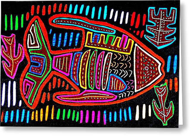 Reverse Art Greeting Cards - MOLA  Fish Greeting Card by Sherry Thorup