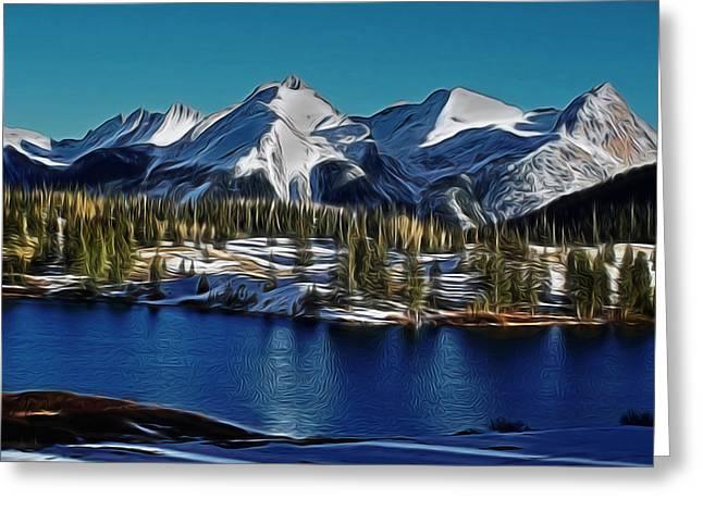 Mola Greeting Cards - Molas Lake Digital Art Greeting Card by Ernie Echols