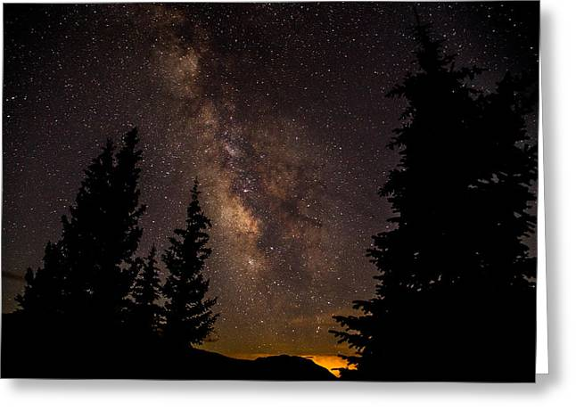 Mola Greeting Cards - Molas Pass Milky Way Greeting Card by Matthew Parks