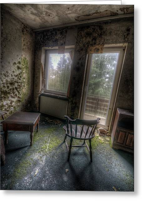 Empty Chairs Digital Greeting Cards - Mold with a view Greeting Card by Nathan Wright