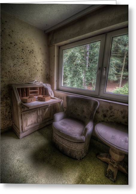 Despair Greeting Cards - Moldy desk Greeting Card by Nathan Wright