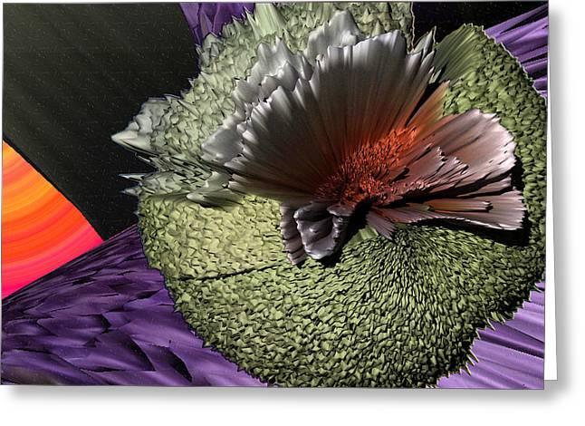 Abstract Digital Photographs Greeting Cards - Molecular Explosion Greeting Card by Camille Lopez