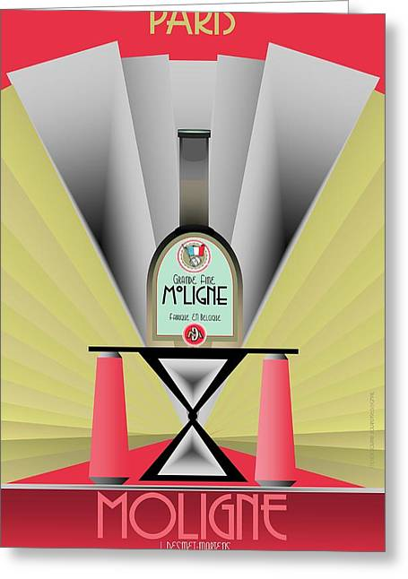 Booze Greeting Cards - Moligne Greeting Card by Steven Boland