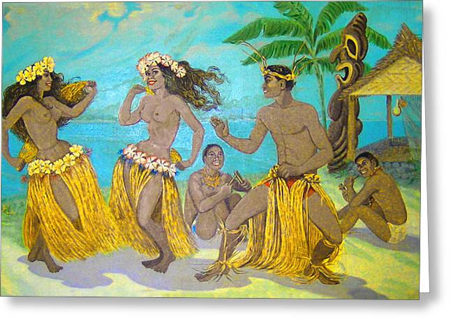James Temple Greeting Cards - Molokai Hula 3 Greeting Card by James Temple