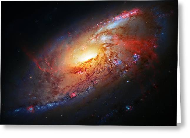 Molten Galaxy Greeting Card by Jennifer Rondinelli Reilly - Fine Art Photography