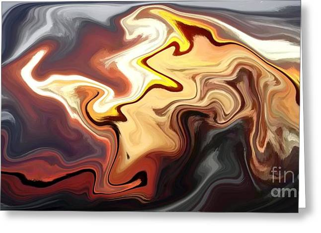 Melted Digital Greeting Cards - Molten Sunset Greeting Card by Chris Butler