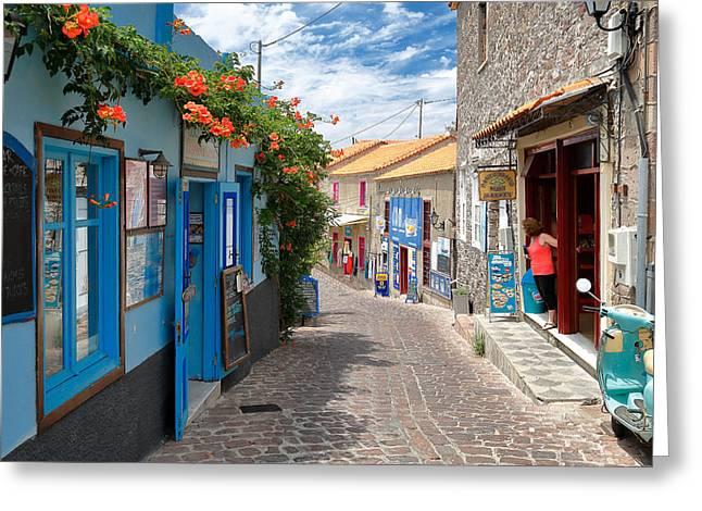 Agios Greeting Cards - Molyvos Greeting Card by Emmanuel Panagiotakis