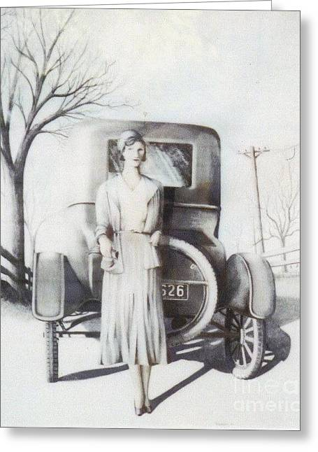 Ford Model T Car Mixed Media Greeting Cards - Mom Greeting Card by David Neace