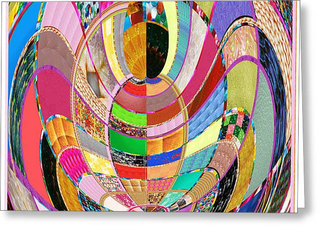Recently Sold -  - Abstract Digital Greeting Cards - Mom Hugs BABY CRYSTAL Stone Collage Layered in Small and Medium Sizes Variety of Shades and Tones fr Greeting Card by Navin Joshi
